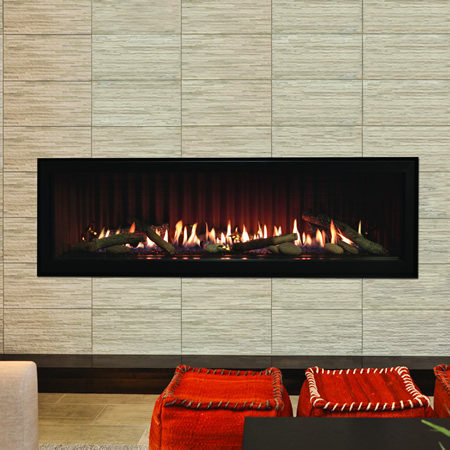Empire boulevard direct vent linear gas fireplace 60 for Contemporary ventless gas fireplaces