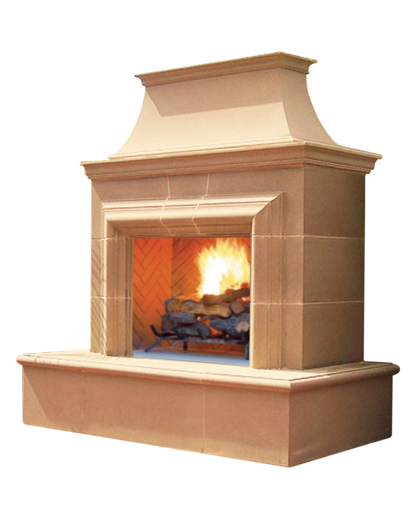 american fyre designs reduced cordova ventless outdoor fireplace