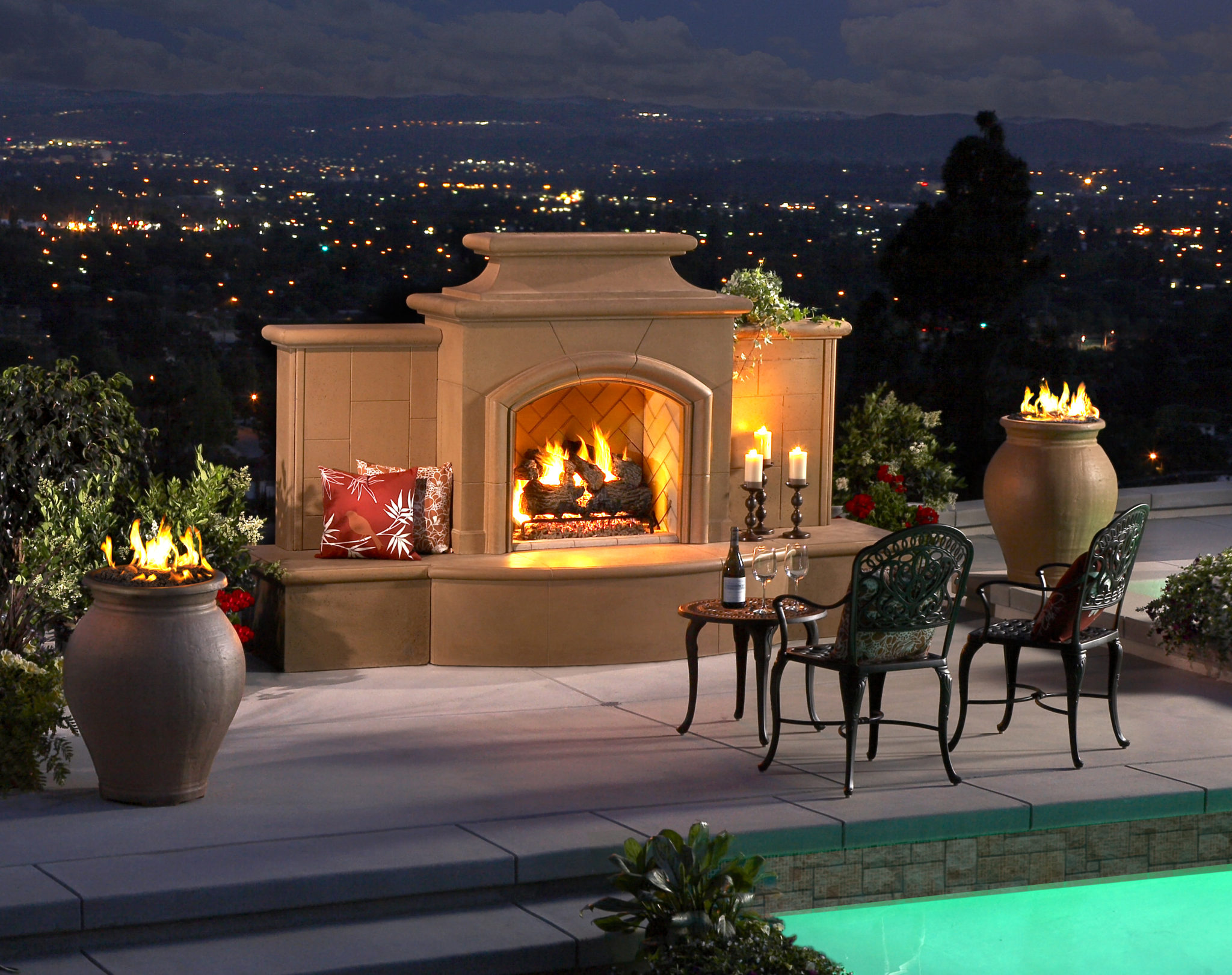 american fyre designs mariposa ventless outdoor fireplace